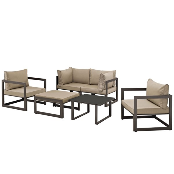 Modway Furniture Fortuna 6pc Outdoor Sofa Sets EEI-1723-OS-SS-VAR