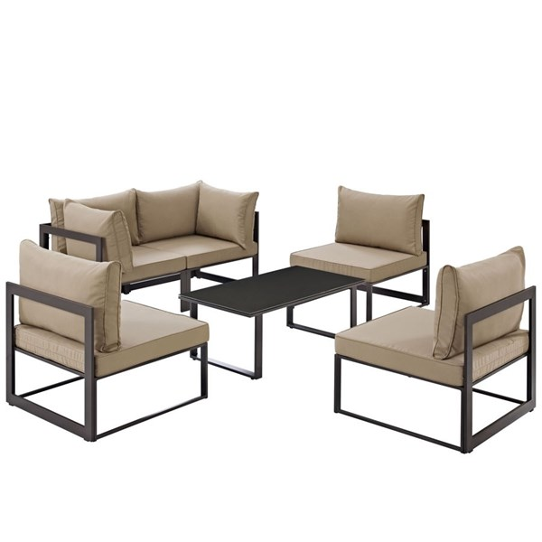 Modway Furniture Fortuna 6pc Outdoor Patio Sofa Sets EEI-1726-OS-SS-VAR