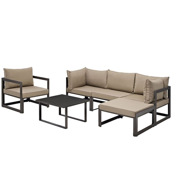 Modway Furniture Fortuna 6pc Outdoor Sectional Sofa Sets EEI-1731-OS-SS-VAR
