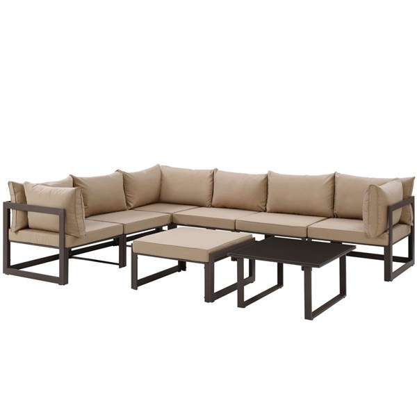 Modway Furniture Fortuna 8pc Outdoor Sectionals EEI-1735-OS-SEC-VAR