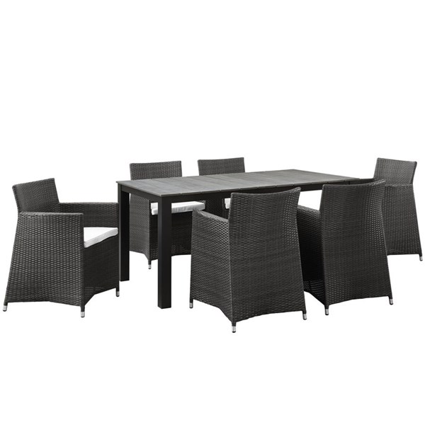 Modway Furniture junction 7pc Outdoor Dining Sets EEI-1748-OD-DS-VAR