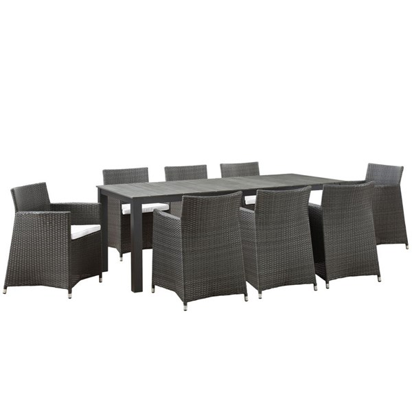 Modway Furniture junction 9pc Outdoor Patio Dining Sets EEI-1752-OD-DS-VAR