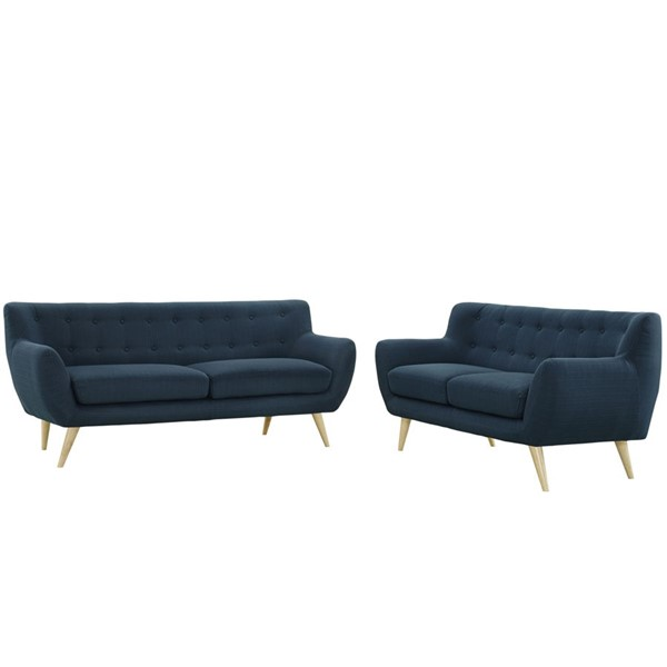 Modway Furniture Remark Azure Fabric 2pc Living Room Set EEI-1785-AZU-SET
