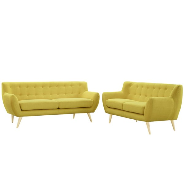 Modway Furniture Remark Sunny Tufted Back 2pc Living Room Set EEI-1785-SUN-SET