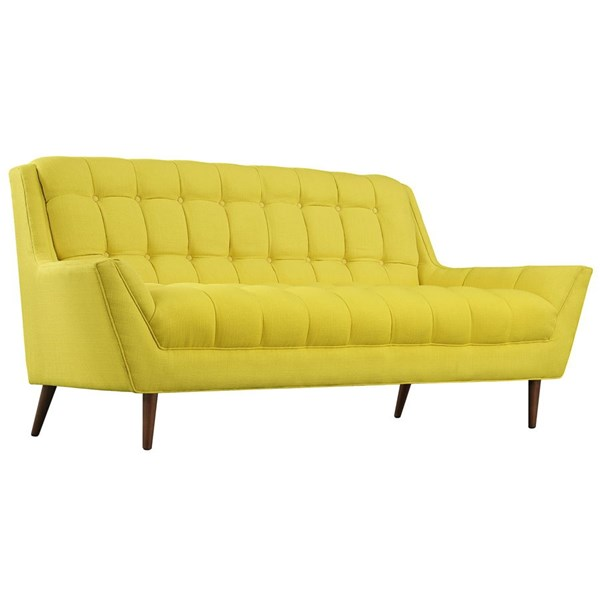 Response Sunny Fabric Wood Tufted Back Loveseat EEI-1787-SUN
