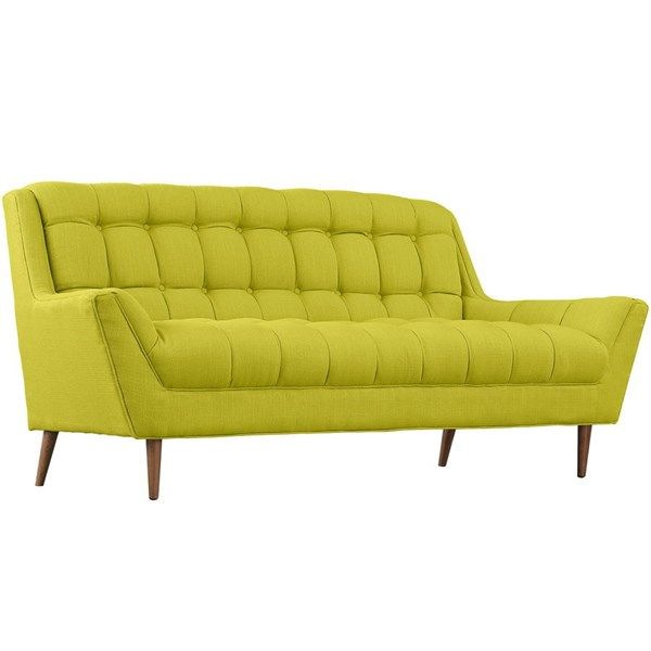 Response Wheatgrass Fabric Wood Loveseat EEI-1787-WHE