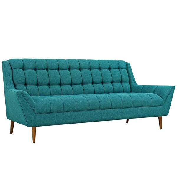 Modway Furniture Response Teal Fabric Upholstered Sofa EEI-1788-TEA