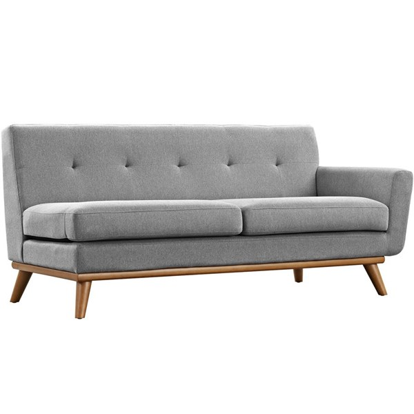 Engage Expectation Gray Fabric Wood Right Arm Loveseat EEI-1792-GRY