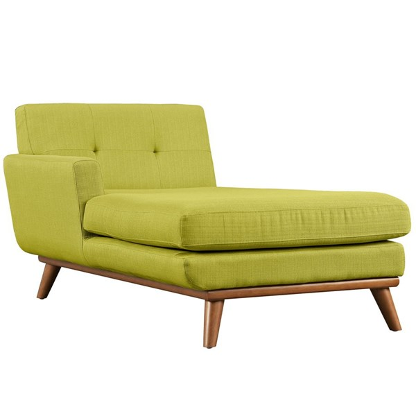 Engage Wheatgrass Fabric Wood Left Arm Chaise EEI-1793-WHE