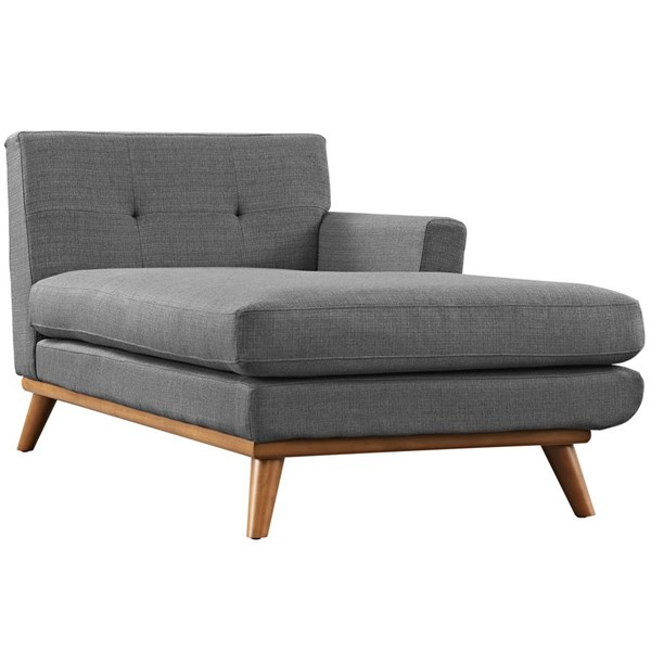 Engage Gray Fabric Wood Right Arm Chaise EEI-1794-DOR
