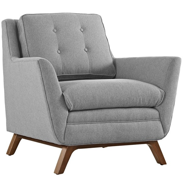 Beguile Expectation Gray Fabric Wood Armchair EEI-1798-GRY