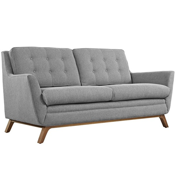 Beguile Expectation Gray Fabric Wood Loveseat EEI-1799-GRY