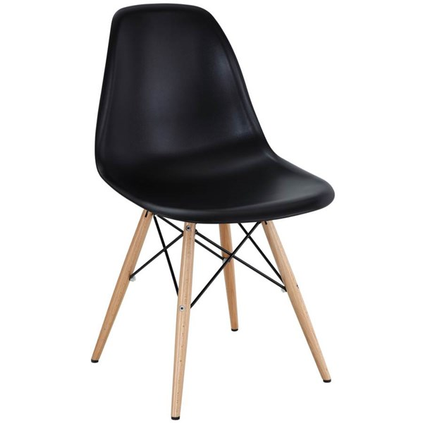 Pyramid ABS Plastic Wood Steel Dining Side Chairs EEI-180
