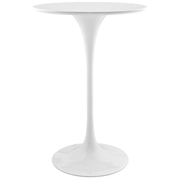 Lippa Traditional White Wood Metal 28 Inch Bar Table EEI-1825-WHI