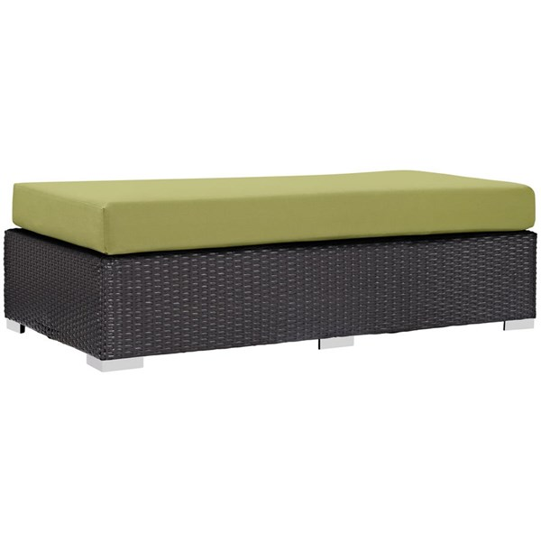Modway Furniture Convene Espresso Peridot Outdoor Patio Rectangle Ottoman EEI-1847-EXP-PER