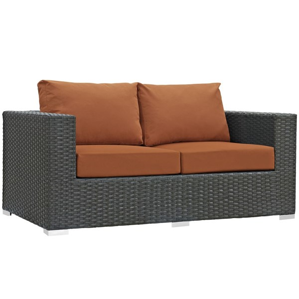 Modway Furniture Sojourn Tuscan Outdoor Sunbrella Loveseat EEI-1851-CHC-TUS