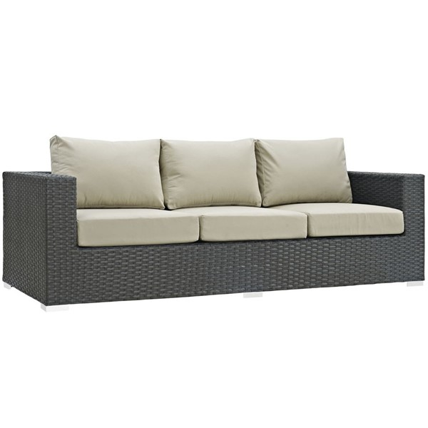 Modway Furniture Sojourn Beige Outdoor Sunbrella Sofas EEI-1860-OS-SO-VAR