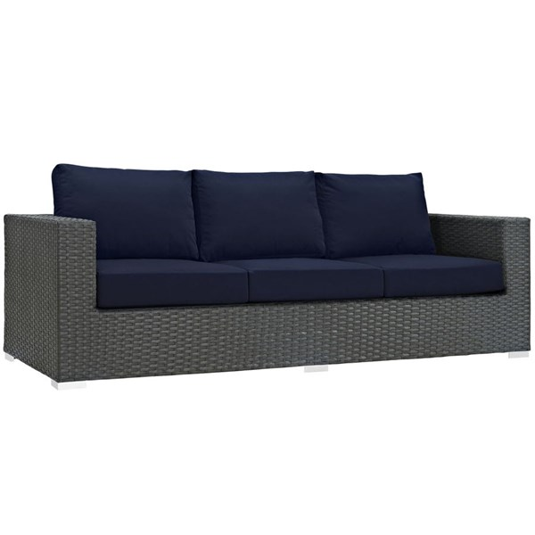 Modway Furniture Sojourn Navy Outdoor Sunbrella Sofa EEI-1860-CHC-NAV