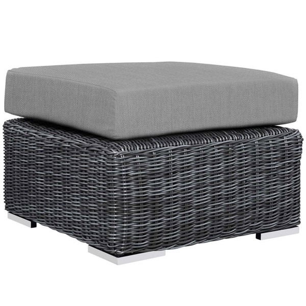 Modway Furniture Summon Gray Outdoor Patio Ottoman EEI-1869-GRY-GRY