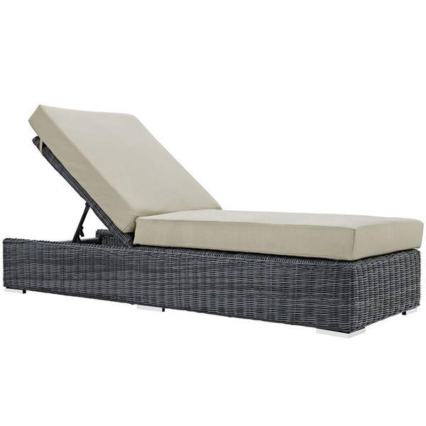Modway Furniture Summon Beige Outdoor Patio Chaise Lounge EEI-1876-GRY-BEI