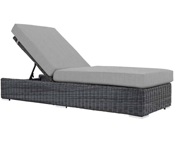 Modway Furniture Summon Gray Outdoor Patio Chaise Lounge EEI-1876-GRY-GRY
