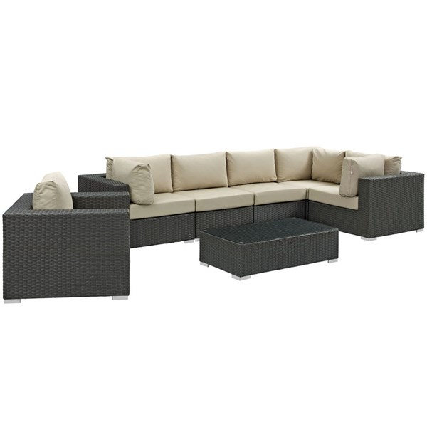 Modway Furniture Sojourn 7pc Outdoor Sectionals EEI-1878-OS-SEC-VAR