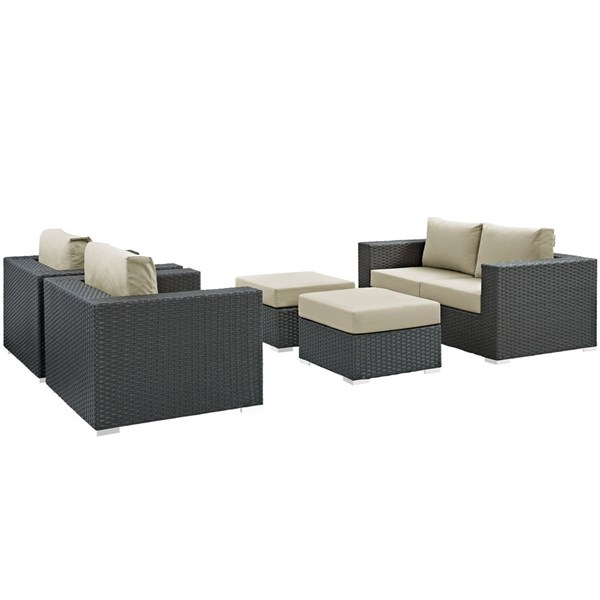 Modway Furniture Sojourn 5pc Outdoor Patio Sofa Sets EEI-1879-OS-SS-VAR