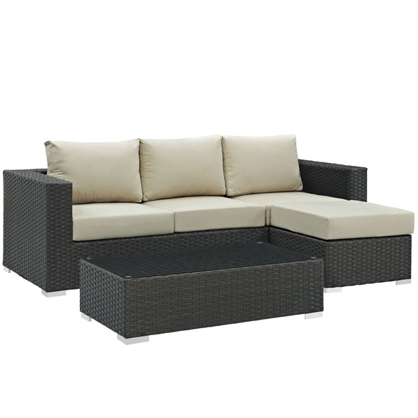 Modway Furniture Sojourn 3pc Outdoor Patio Sofa Sets EEI-1889-OS-SS-VAR