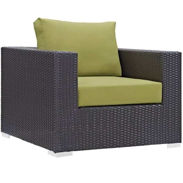 Modway Furniture Convene Espresso Peridot Outdoor Patio Armchair EEI-1906-EXP-PER