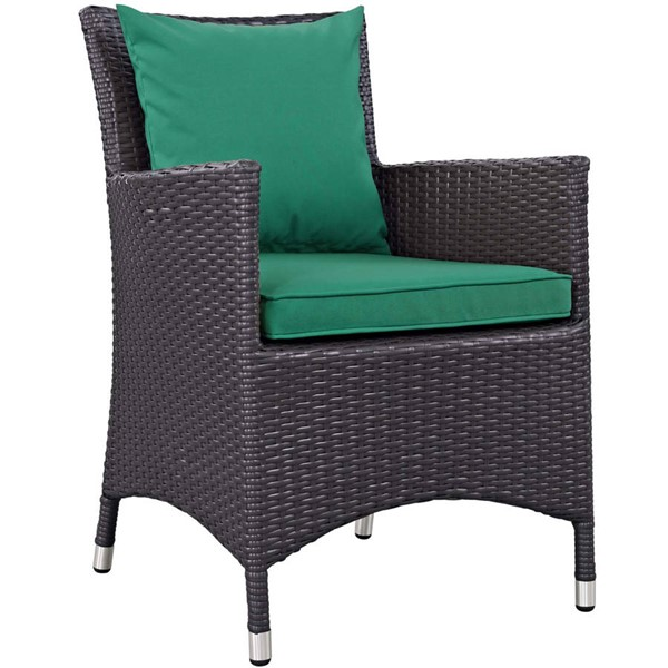 Modway Furniture Convene Green Dining Outdoor Patio Armchair EEI-1913-EXP-GRN