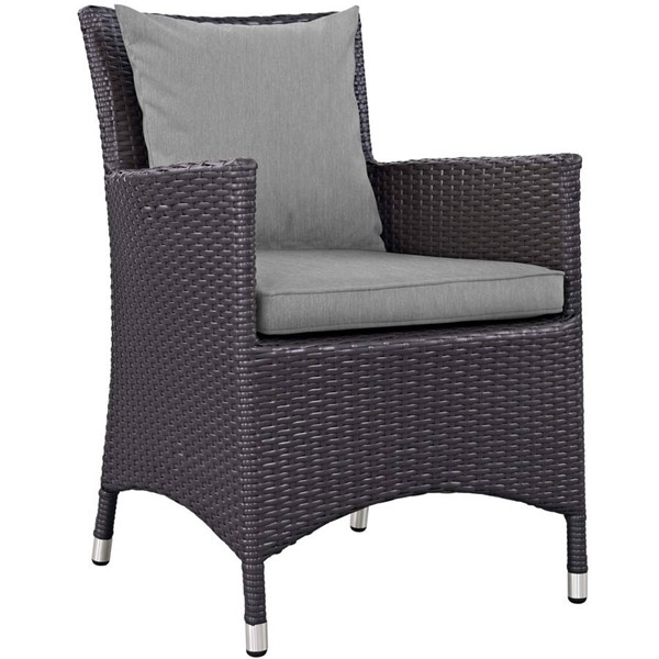 Modway Furniture Convene Gray Dining Outdoor Patio Armchair EEI-1913-EXP-GRY