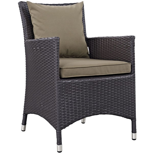 Modway Furniture Convene Mocha Dining Outdoor Patio Armchair EEI-1913-EXP-MOC