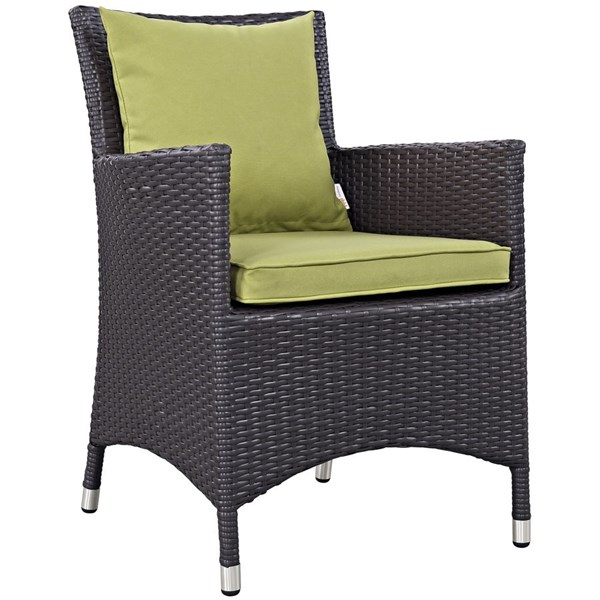 Modway Furniture Convene Peridot Dining Outdoor Patio Armchair EEI-1913-EXP-PER