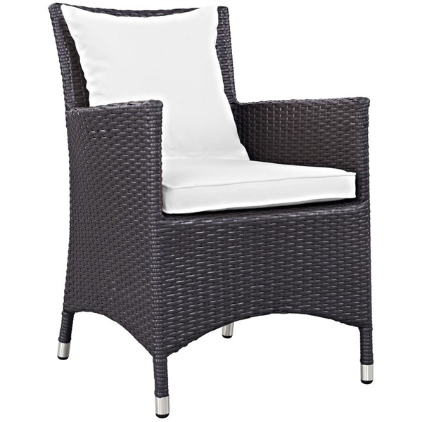 Modway Furniture Convene White Dining Outdoor Patio Armchair EEI-1913-EXP-WHI