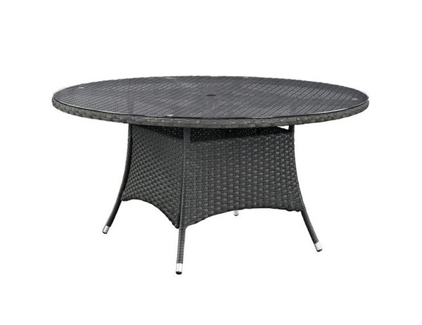 Modway Furniture Sojourn 59 Inch Round Outdoor Dining Table EEI-1929-CHC