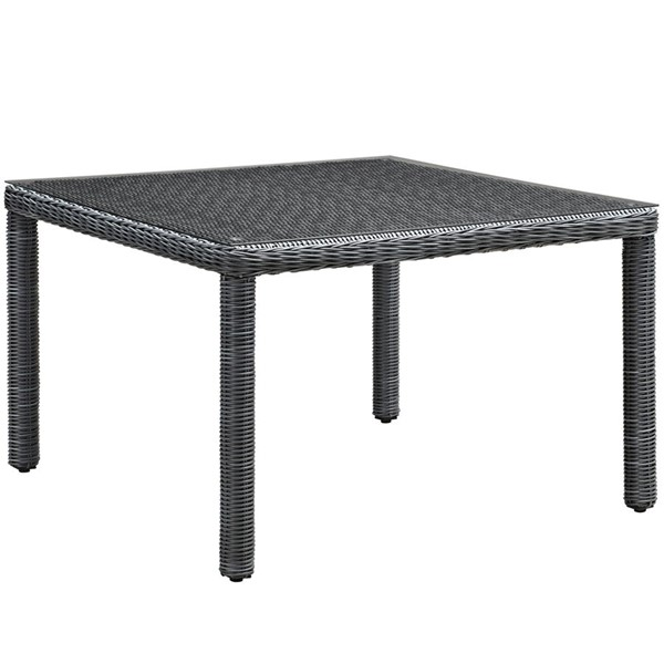 Modway Furniture Summon Gray 47 Inch Square Outdoor Patio Dining Table EEI-1936-GRY