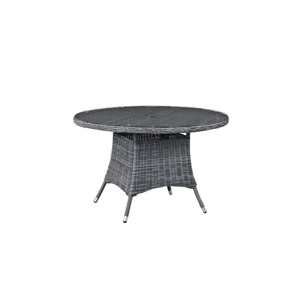 Modway Furniture Summon 47 Inch Round Outdoor Patio Dining Table EEI-1938-GRY