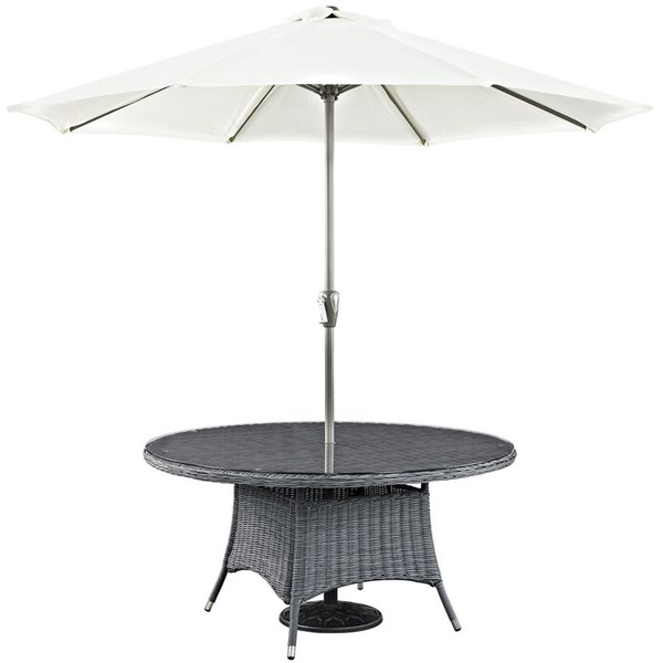 Modway Furniture Summon 59 Inch Round Outdoor Patio Dining Table EEI-1940-GRY