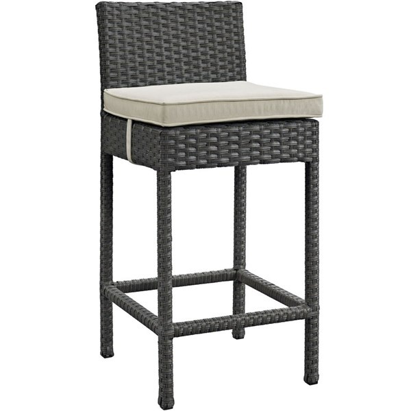 Modway Furniture Sojourn Beige Outdoor Sunbrella Bar Stool EEI-1957-CHC-BEI