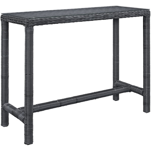 Modway Furniture Summon Large Outdoor Patio Bar Table EEI-1959-GRY
