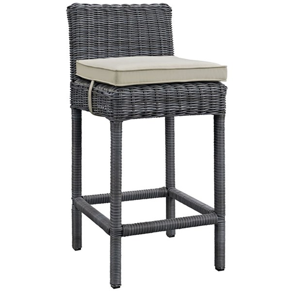 Modway Furniture Summon Beige Outdoor Patio Bar Stool EEI-1960-GRY-BEI