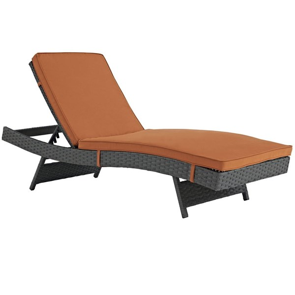 Modway Furniture Sojourn Tuscan Outdoor Sunbrella Chaise EEI-1985-CHC-TUS