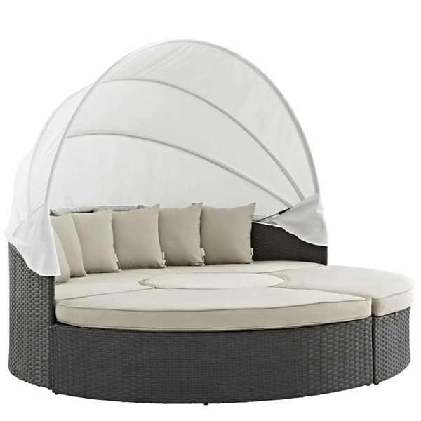 Modway Furniture Sojourn Beige Outdoor Sunbrella Daybed EEI-1986-CHC-BEI-SET