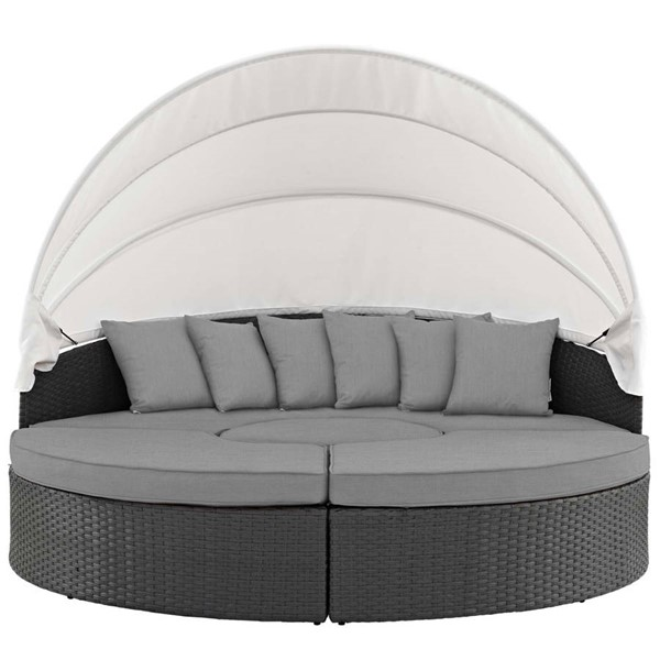 Modway Furniture Sojourn Gray Outdoor Sunbrella Daybed EEI-1986-CHC-GRY