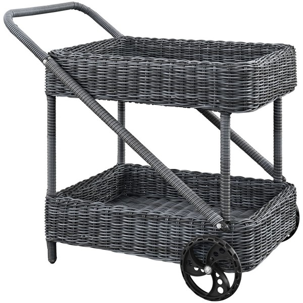 Modway Furniture Summon Outdoor Patio Beverage Cart EEI-1990-GRY