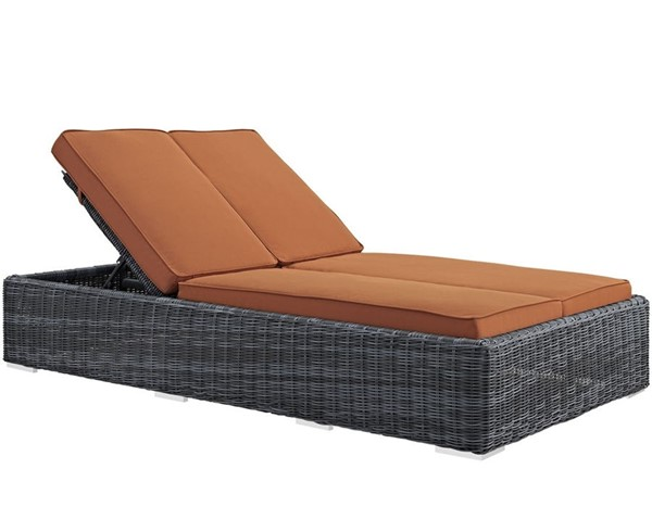 Modway Furniture Summon Tuscan Double Outdoor Patio Chaise EEI-1994-GRY-TUS