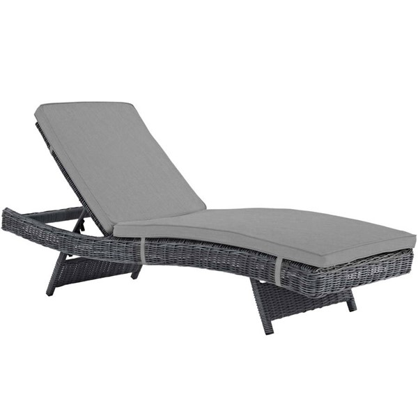 Modway Furniture Summon Gray Outdoor Patio Chaise EEI-1996-GRY-GRY