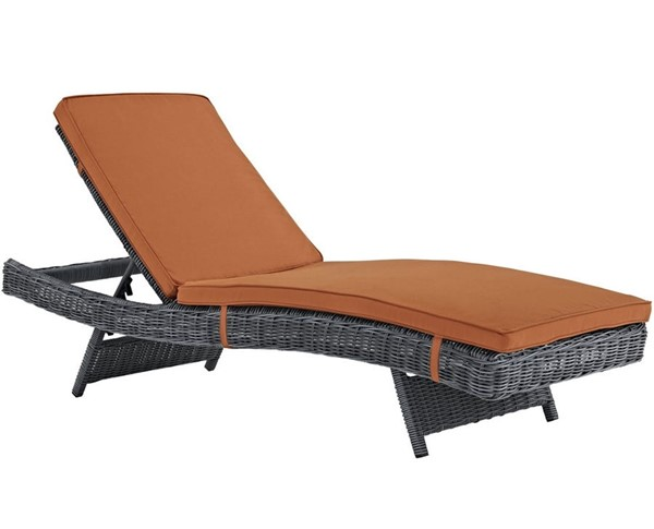 Modway Furniture Summon Tuscan Outdoor Patio Chaise EEI-1996-GRY-TUS