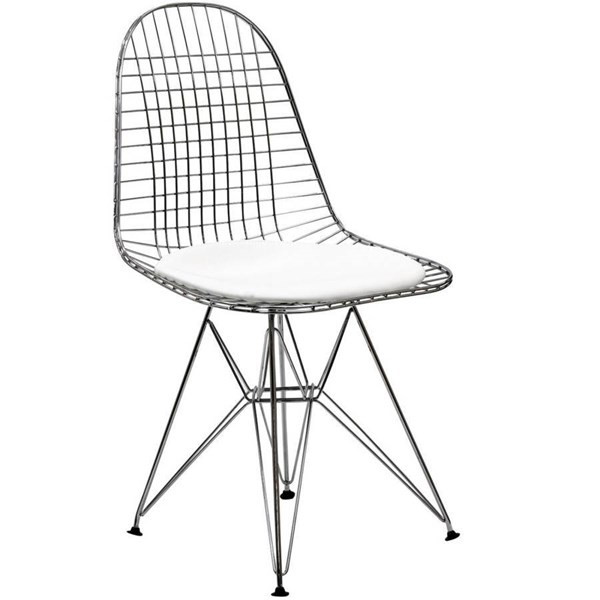 Modway Furniture Tower White Dinette Chair EEI-200-WHI