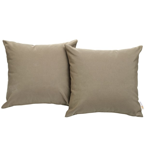 2 Modway Furniture Convene Mocha Outdoor Patio Pillows EEI-2001-MOC